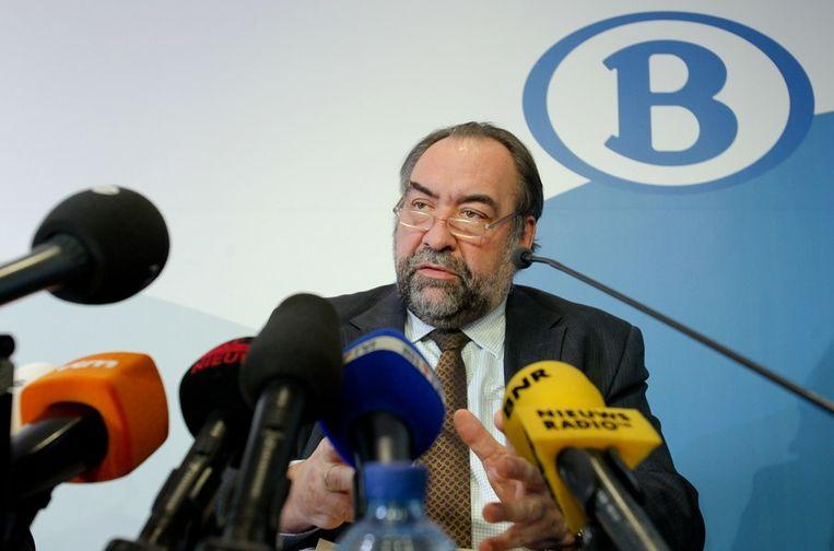 Marc Descheemaecker, bestuursvoorzitter van de Belgische vervoerder NMBS. Beeld afp