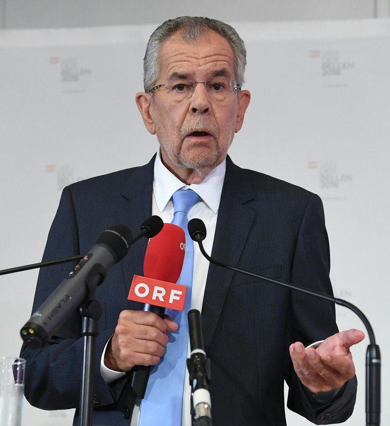 Alexander van der Bellen won de verkiezingen in mei met een verschil van 31.000 stemmen. Beeld afp