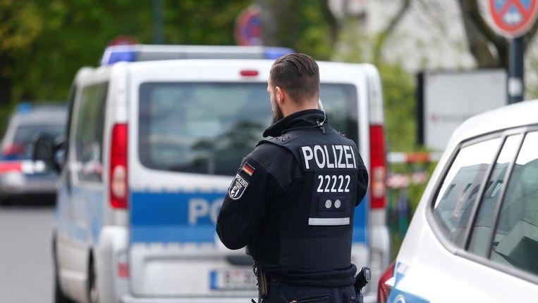 Een agent in de Duitse hoofdstad Berlijn Beeld reuters
