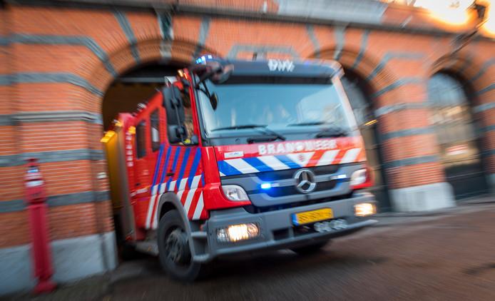 Archiefbeeld van de brandweer. Meerdere woningen aan de Busschieterstraat in Gorinchem zijn vanmiddag ontruimd vanwege een  mogelijke gaslucht. De brandweer trof niets aan.