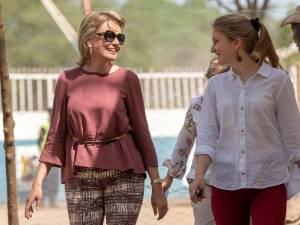 """Une visite """"émouvante mais riche en apprentissages pour ma fille"""", selon la Reine Mathilde"""