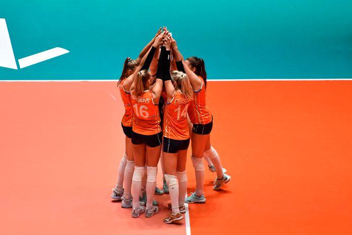 De Nederlandse volleybalploeg.