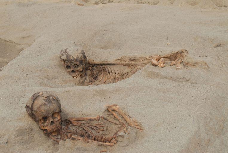 De overblijfselen van de kinderen werden gevonden in een gebied van 700 vierkante meter. Beeld John Verano (2019)