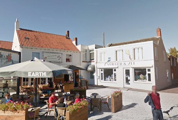 Kledingwinkel Vlieger&Zee aan het Spuiplein in Breskens