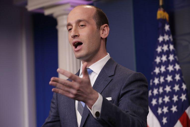 Volgens diverse Amerikaanse media is Stephen Miller een kandidaat voor de vacante positie van hoofd communicatie in het Witte Huis. Beeld Getty Images
