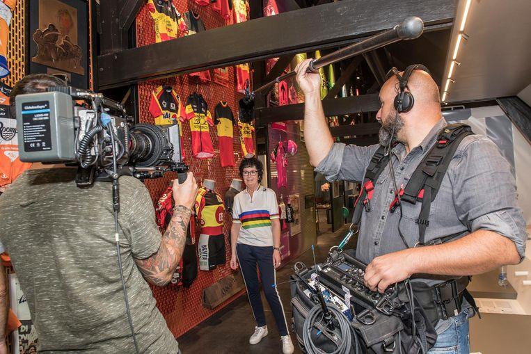 Christa tijdens de opnames , die in de loop van het najaar te zien zullen zijn.