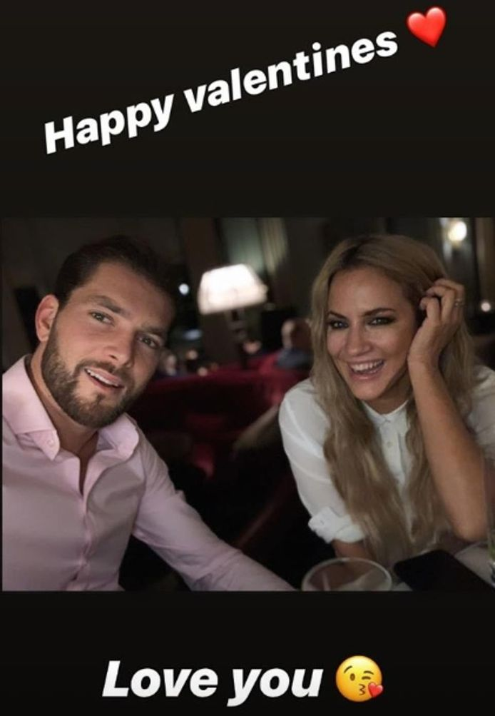 Lewis wenste zijn vriendin gisteren nog een fijne Valentijnsdag