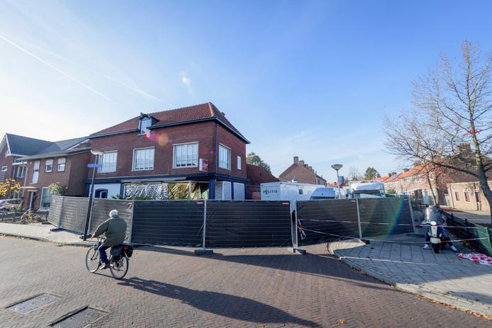 Het plaats delict van de viervoudige moord aan de Van Leeuwenhoekstraat in Enschede.