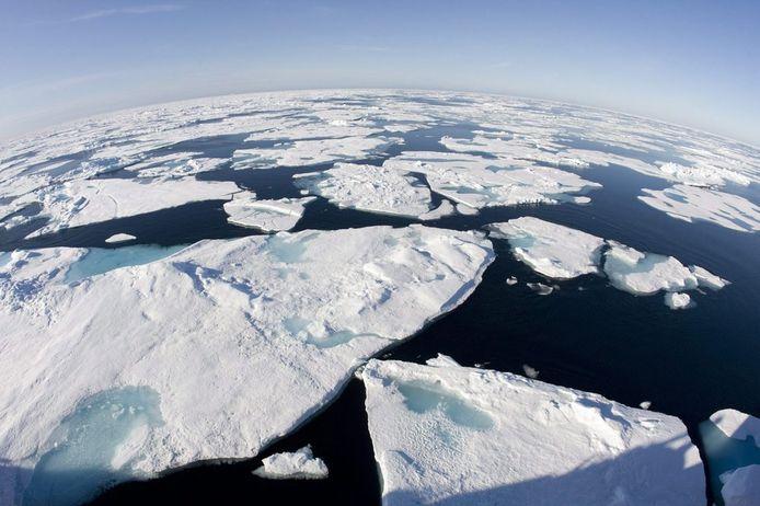 Ijsschotsen op de Noordpool.