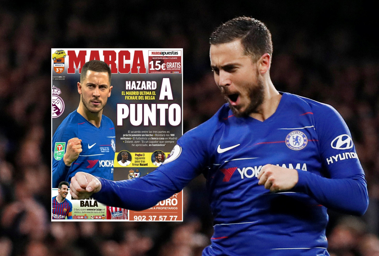 Eden Hazard. Inzet: de cover van Marca van vandaag.