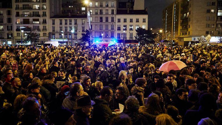Herdenking in 2015 bij een Joods supermarkt in Parijs waar een gijzelnemer vier mensen doodde. Beeld anp