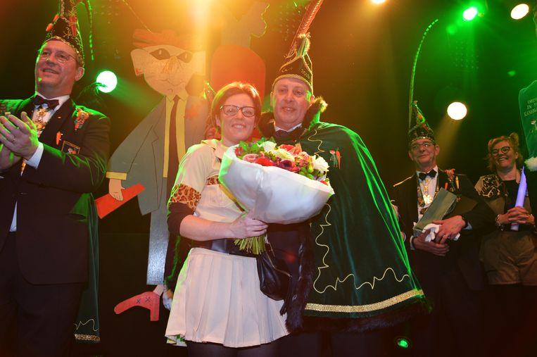 Prins carnaval Dario met zijn echtgenote.