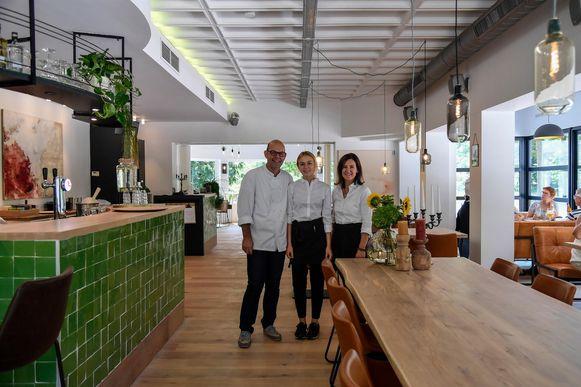 Kris Van Den Eede en Mieke Robbrechts in hun brasserie.