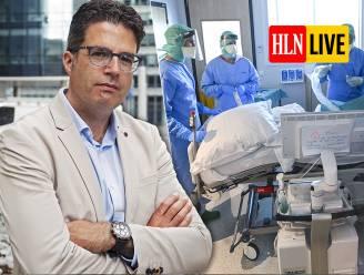 """LIVE. Van Gucht: """"Rond Kerstmis nog 500-tal besmettingen per dag"""" - Ziekenhuizen roepen Overlegcomité op om teugels niet te lossen - Geert Molenberghs: """"Belangrijk en verstandig om nu nog even vol te houden"""""""