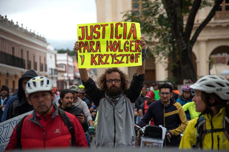 De protestactie in San Cristobal de las Casas.