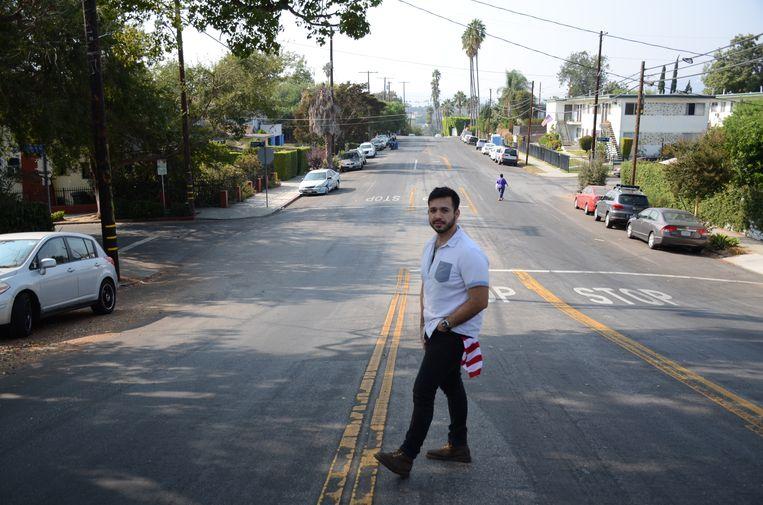 Luis Adrián Lara in Echo Park (Los Angeles). Beeld Mari Meyer