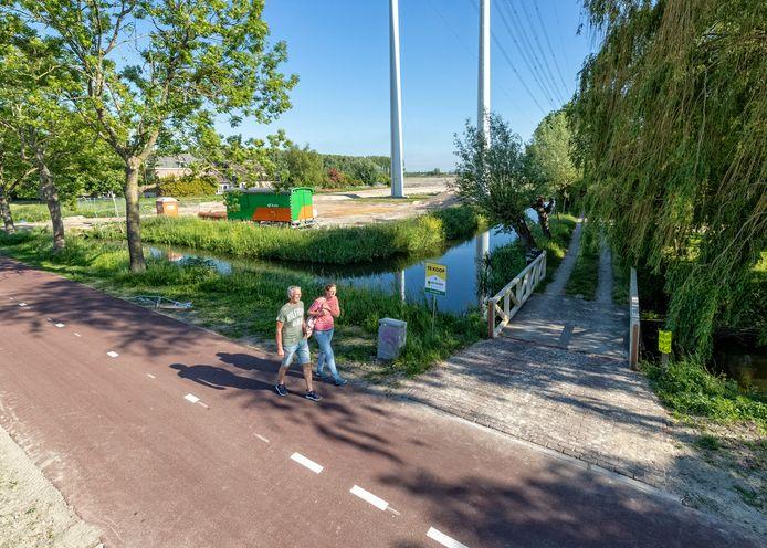 De locatie van de nog te bouwen wijk Westvaartpark in Hazerswoude Rijndijk.