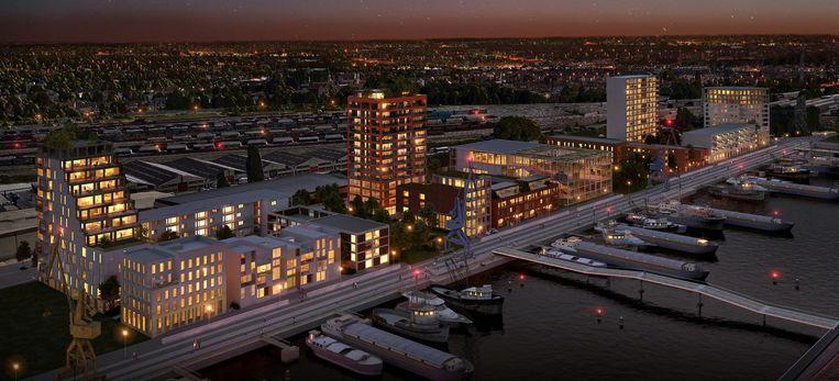 Het project De Nieuwe Dokken zorgt voor een heel nieuwe skyline in Gent.