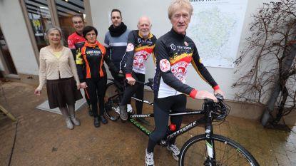 Slechtziende Guido (67) fietst op tandem van Kleine-Brogel naar Kortrijk (195 km) voor De Warmste Week