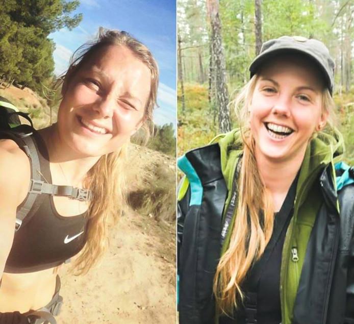 De vermoorde toeristen Louisa Vesterager Jespersen (links) en Maren Ueland.