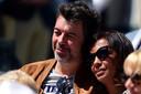 Karine Le Marchand avec son meilleur ami, Stephane Plaza, à Roland Garros, le 8 juin.