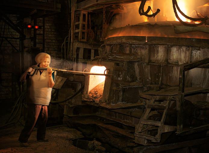 Prinses Beatrix in een computergame.