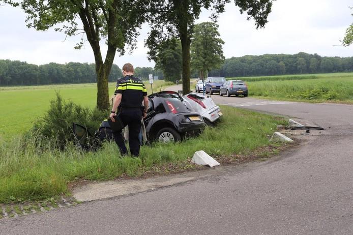 Veel schade aan de auto's