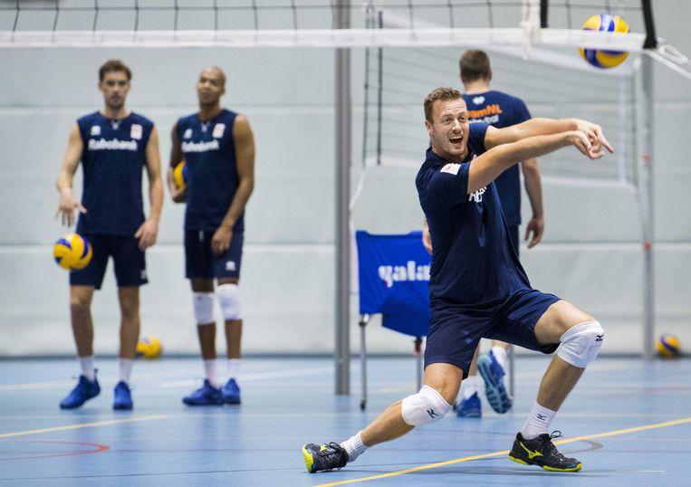 Jeroen Rauwerdink traint weer mee met Oranje. Beeld ANP