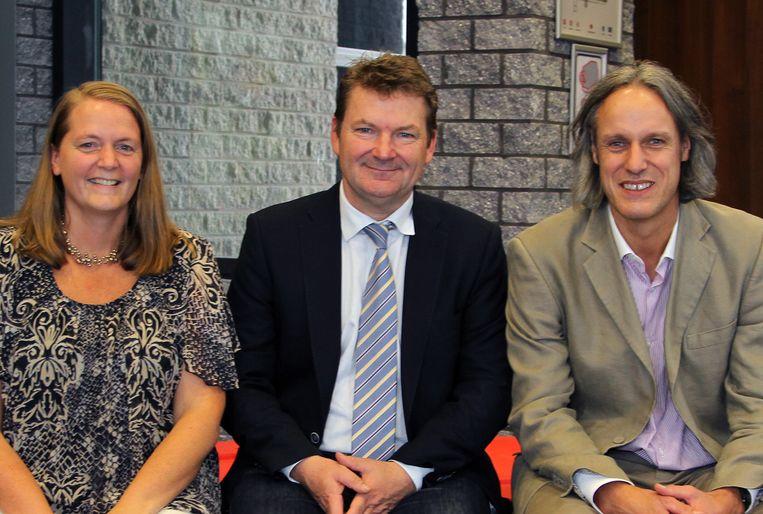 (vlnr.) Directeur onderwijs Patricia Waerniers, algemeen directeur Joris Hindryckx en studiegebieddirecteur onderwijs Noël Selis.