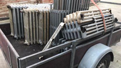 Dieven betrapt met aanhangwagen vol gestolen radiatoren