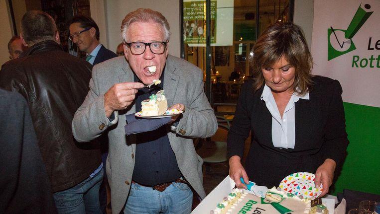 Tijd voor een feestje: Leefbaar Rotterdam viert zijn vijftienjarig bestaan. Beeld Arie Kievit