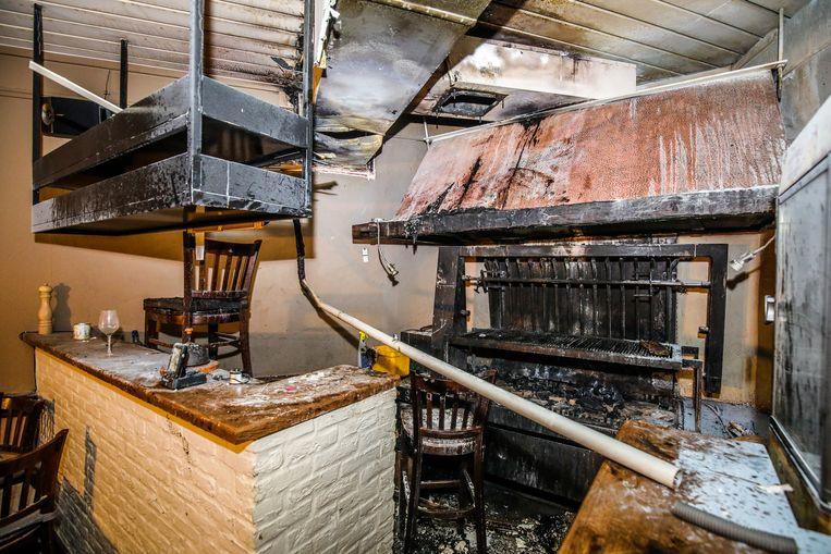 Zo zag 't Gildenhuis er twee weken geleden uit: de brand ontstond boven de grill.
