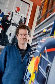 Willem Lubach uit Hengelo schildert iconisch moment van Max Verstappen