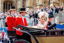 Het koningspaar, gisteren in Windsor.