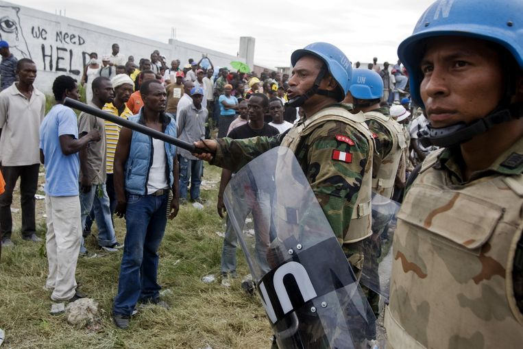 VN-soldaten in Haïti.