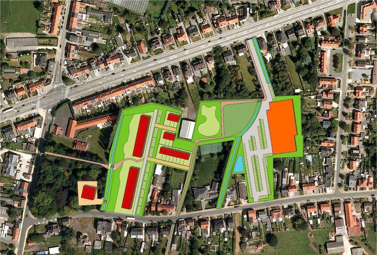 Het masterplan uit 2012, waarmee het toenmalige stadsbestuur het binnengebied tussen N70, Smisstraat, Driegaaienhoek en Baenslandstraat wilde ordenen.