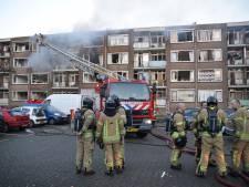 Twee zwaargewonden door enorme brand na gasexplosie