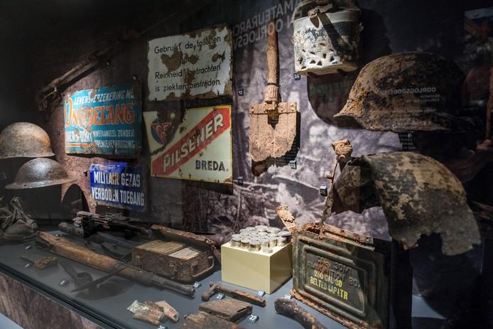 De nieuwe tentoonstelling Opgegraven Strijd in het Noordbrabants Museum.