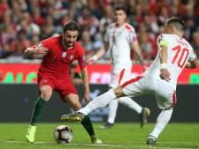 Portugal speelt weer gelijk in Lissabon, Ronaldo valt geblesseerd uit