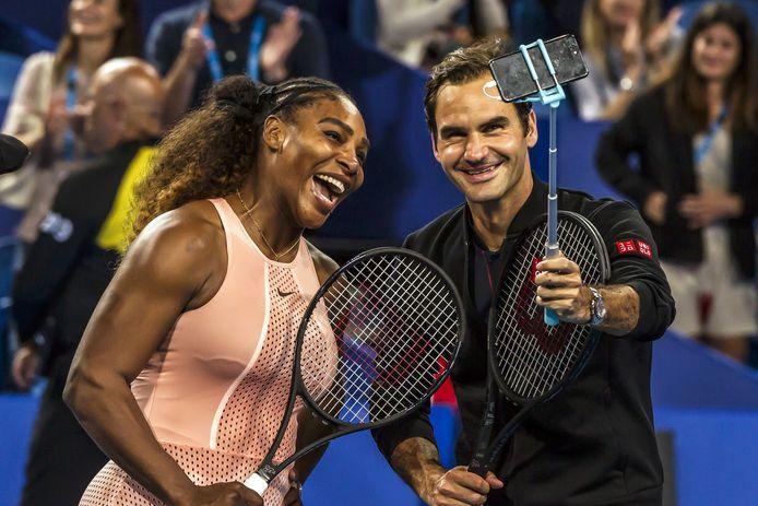 Serena Williams en Roger Federer.