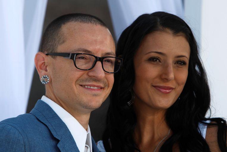 Chester Bennington (1976-2017) en zijn vrouw Talinda.