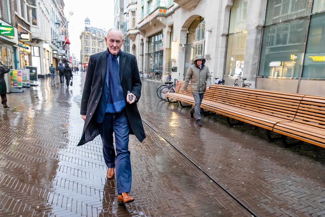 Commissievoorzitter Johan Remkes na de toelichting op zijn tweede adviesrapport over stikstof in het Haagse Nieuwspoort.
