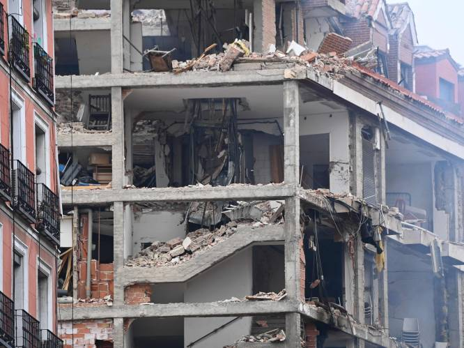 Zware ontploffing in gebouw in centrum van Madrid: minstens twee doden en acht gewonden