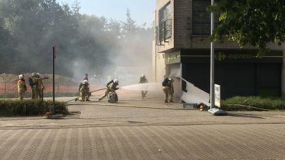 Konijn en honden uit flats gered tijdens hevige brand in Carrefour Willebroek