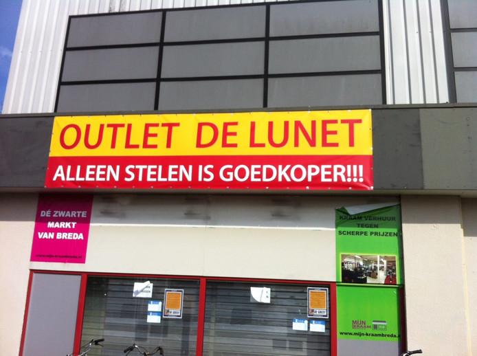 Mooie slogan bij winkelcentrum De Lunet.