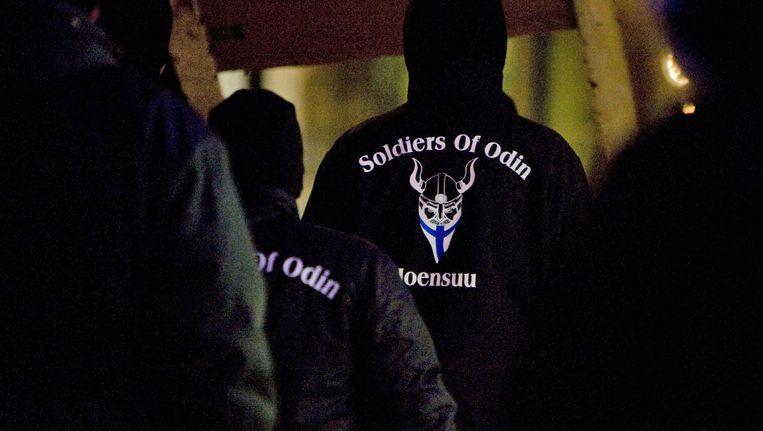 Leden van Soldiers of Odin in Finland.