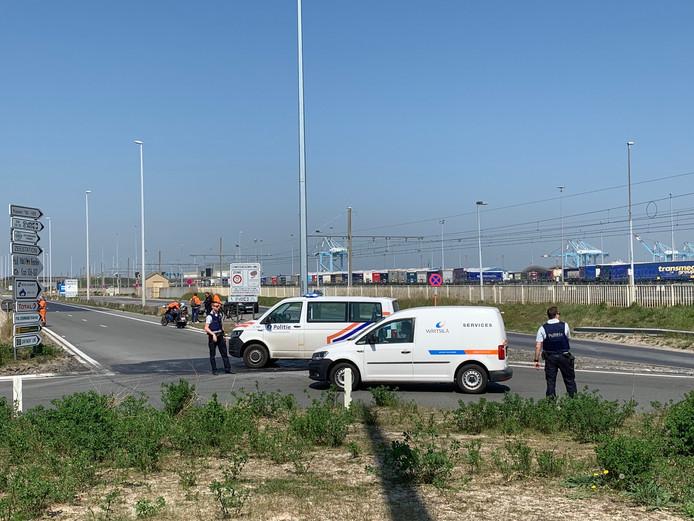 Het havengebied van Zeebrugge werd afgesloten