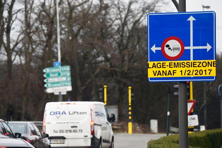 In Vlaanderen heeft voorlopig enkel Antwerpen een lage-emissiezone.