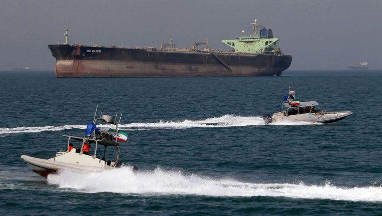 Een olietanker bij de kust van Iran. Beeld afp