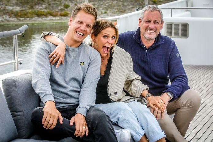 Gert en James, hier met Karen Damen, zullen eind deze zomer geen gasten ontvangen in Brugge.